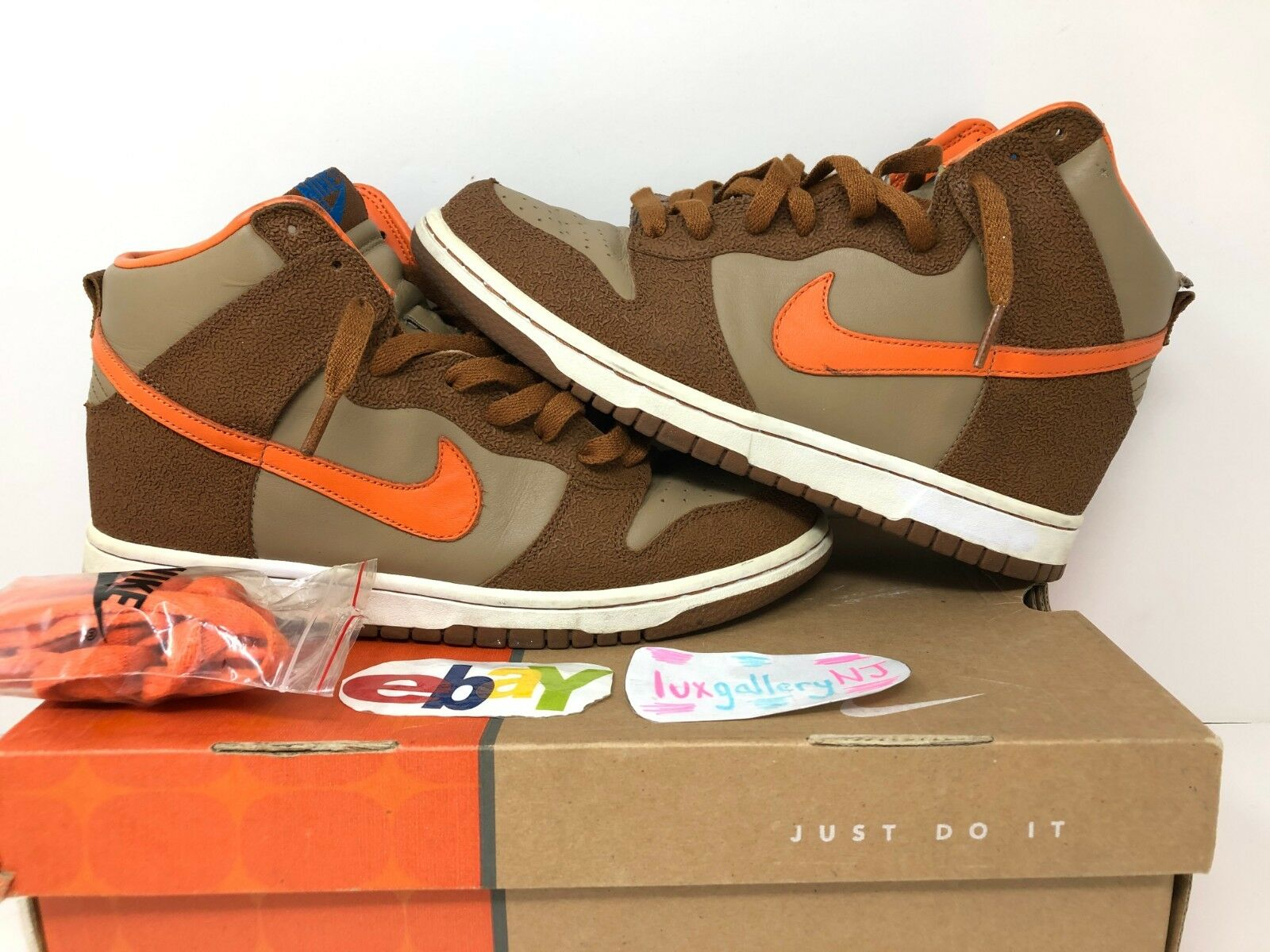 2006  Nike Dunk High The Thing Fantastic Four Pack US 8 (Usato) Marroneee arancio  edizione limitata a caldo
