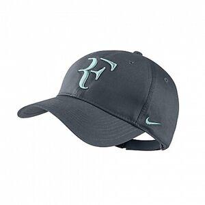 New Nike RF Roger Federer Hat Cap Dark Armory Blue Tennis Dri Fit ... fa66df88c9e