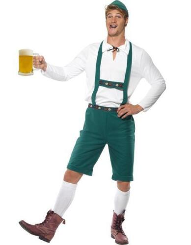 Mens Lederhosen Oktoberfest Bavarian Fancy Dress Costume German Outfit Smiffys