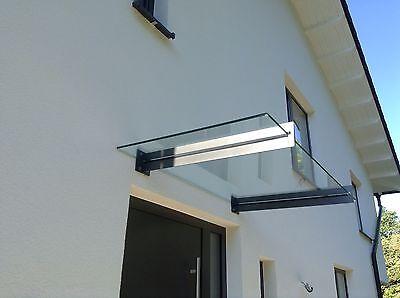 """Edelstahl Glas Vordach """"san Diego"""" Anthrazit Ral 7016 Vsg-tvg Glas Mit Den Modernsten GeräTen Und Techniken Vordächer"""