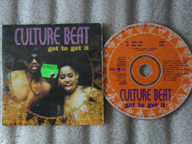 CD-CULTURE BEAT-GOT TO GET IT-Torsten Fenslau-Club Mix-(CD SINGLE)-1993-2 TRACK