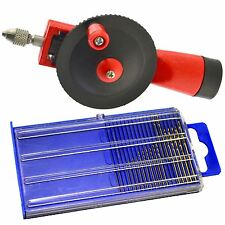 Micro HSS Mini Drill Metric Bit Set & Mini Hand Drill Chuck Hobby Craft