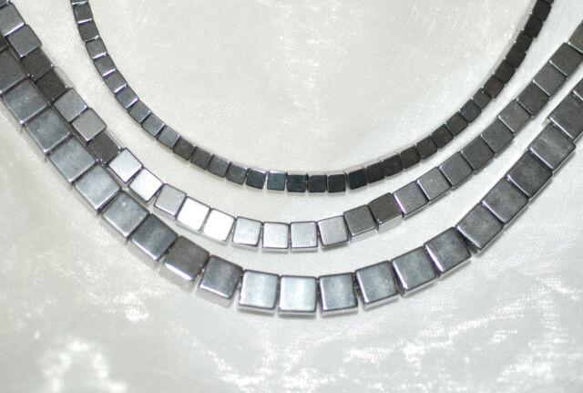 Hämatit Perlen Würfel 3 ,4 ,6 oder 8 mm verschiedene Farben,  1 Strang BACATUS