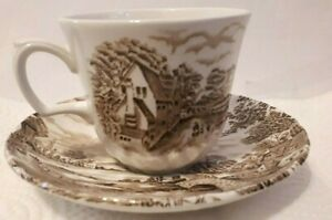 Ridgway-1792-Staffordshire-England-Country-Days-Cup-amp-Saucer
