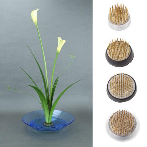 Round Ikebana Kenzan Flower Frog With Rubber Gasket Art Fixed Arranging Tools