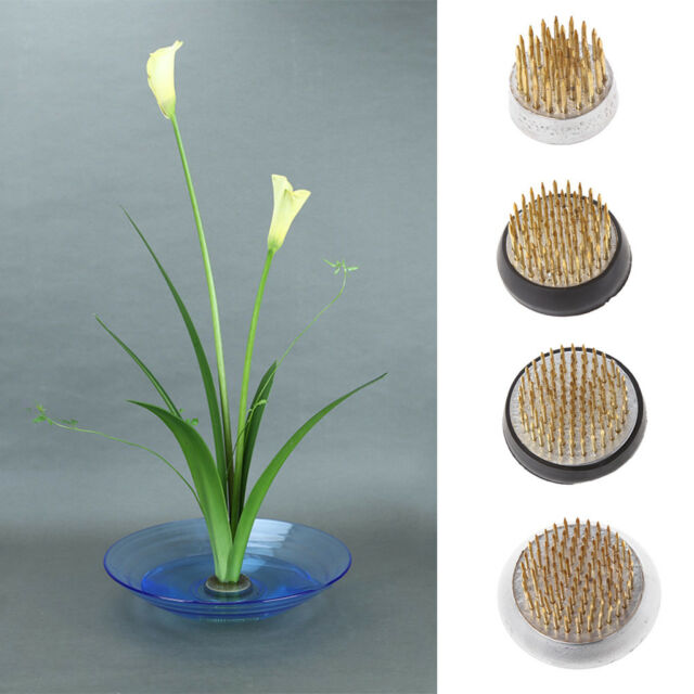 Japanese Ikebana Kenzan Long Rround Needle Flower Frog Pin Prong Arranging Tools