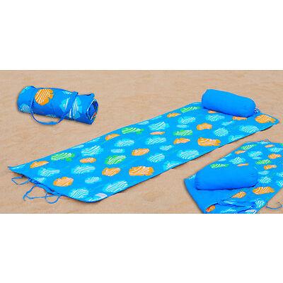 Beach Gear Combo Set Sunbath Mat + Neck Pillow Gift Ideals NEW Multi-Styles