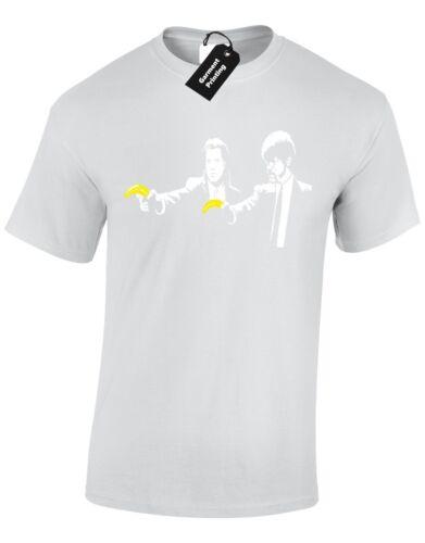 Pulp fiction banksy hommes t shirt top rétro cool nouveau drôle qualité premium design