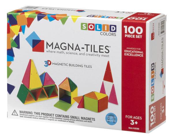 Magna-Tiles 02300 100pc Solid Conjunto