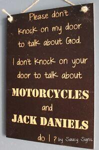 No-Soliciting-God-Motorcycles-and-Jack-Daniels-Door-Sign-Biker-Harley-Davidson