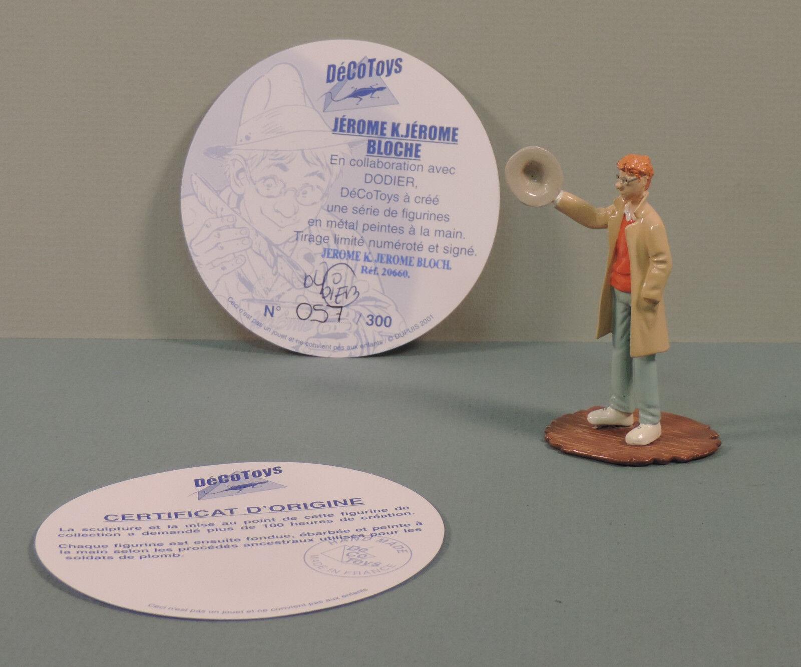 Jerome bloche statuette metall jerome saluant decotoys 20660 limite signe