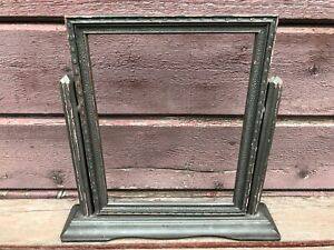 Antique-Wooden-Art-Deco-Standing-Swivel-Picture-Frame-Vintage-8-5-x-6-5-photo
