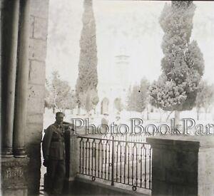 Jerusalem-Ansicht-Aufgenommen-Moschee-D-039-Omar-Israel-Palaestina-Platte-Stereo