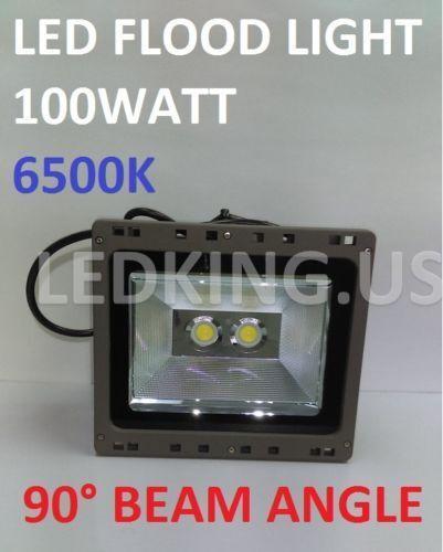 LED FLOOD LIGHTS 100WATT 6500K 90° BEAM ANGLE YARD GARDEN OUTDOOR SPOTLIGHT