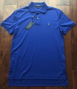 Shirt Soft Sz Rugby Details Blue S Ralph Royal Nwt Lauren About Pima Touch Polo kZTOPiuX
