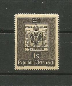 Autriche-Scott-572-Mlh-Centenaire-de-Timbre-1949