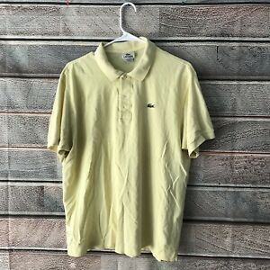 1579d89f LACOSTE Original POLO Shirt Yellow Cotton Mens 6 M Medium Made In ...