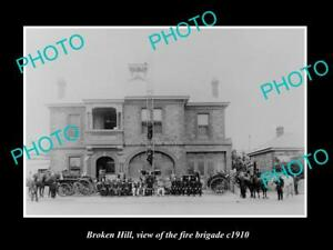 OLD-LARGE-HISTORIC-PHOTO-OF-BROKEN-HILL-NSW-VIEW-OF-THE-FIRE-BRIGADE-c1910