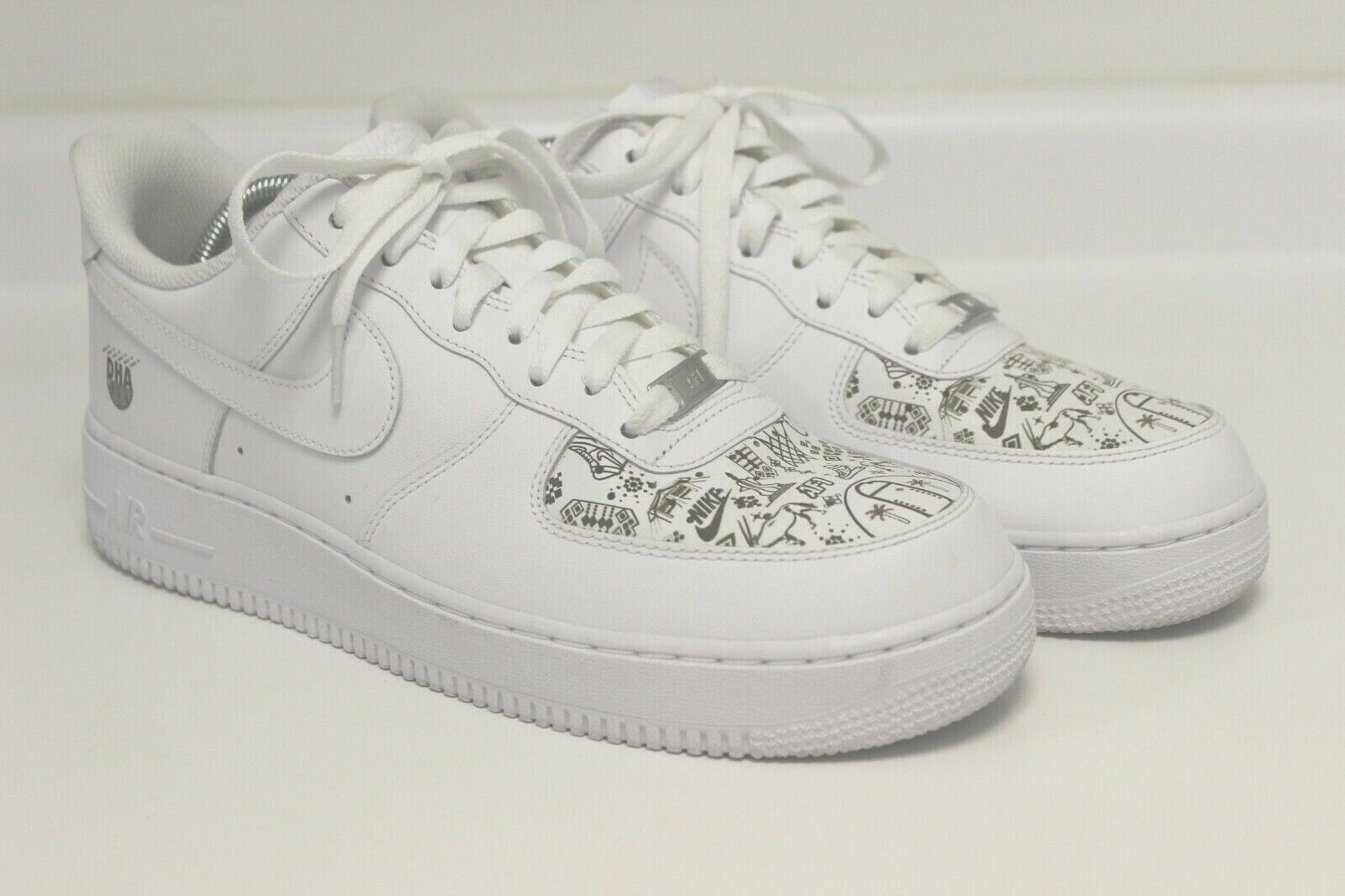NIKE AIR FORCE 1 LOW MENS WHITE LASER DHAHRAN EXCLUSIVE SIZE 10.5