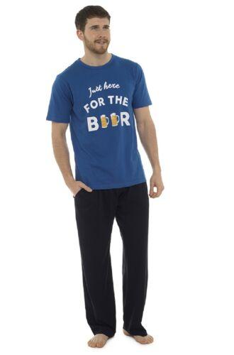 Beer Mens Novelty Funny Slogan Print Lounge Snooze Pyjama Set ~ Get Lost