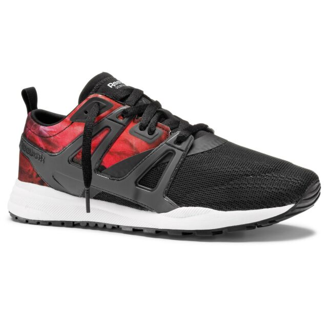 Reebok Ventilator Adapt Graphic Black Red Womens Retro Running Shoes