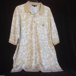 Port-Authority-2XL-Tan-Short-Sleeve-Mens-Pullover-Shirt-with-L3-emblem-Beige