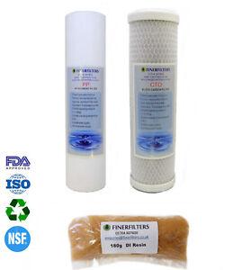"""Strong-Willed Finerfilters 4 Fase Acquario 10 """" Osmosi Inversa Ricambio Filtri Per L'acqua Fish & Aquariums"""