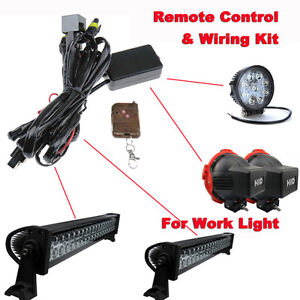 12v 40a wiring harness remote control kit for led spotlights work image is loading 12v 40a wiring harness remote control kit for