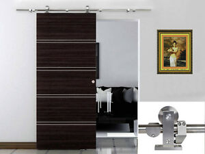 Image Is Loading 6 6 FT Modern Sliding Door Hardware Kit