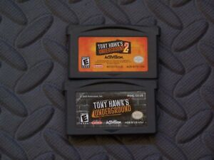 Lot Nintendo Game Boy Advance GBA Games Tony Hawk's Underground + Underground 2