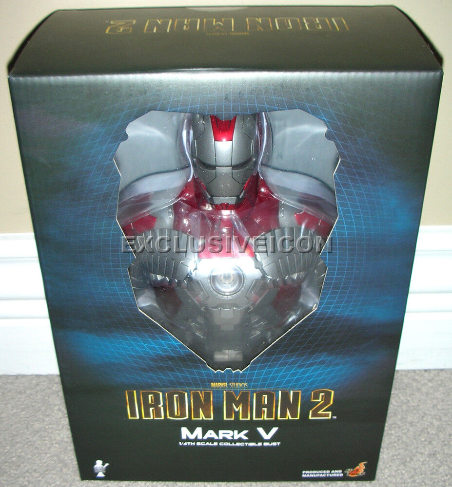 2010 Hot Toys 1 4th Scale Iron Man 2 Movie 9  Mark V (5) Bust Canadian