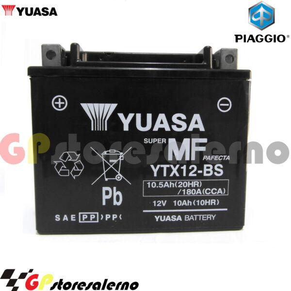 2019 Nuovo Stile Ytx12-bs Batteria Yuasa Piaggio 350 X10 Ie 4v E3 2012 Squisita (In) Esecuzione