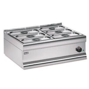 Lincat BS7W 6 Pot Electric Wet Heat Bain Marie Food Soup Warmer 750Wx600Dx290Hmm