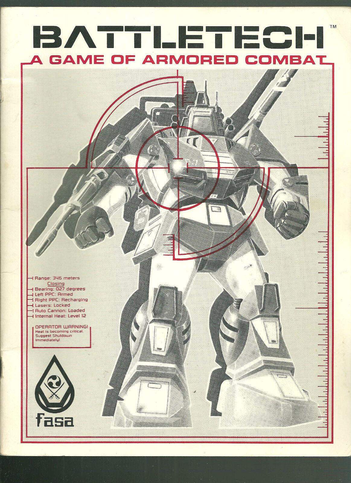 Battletech Juego Libro de FASA 1985 dura 40 páginas