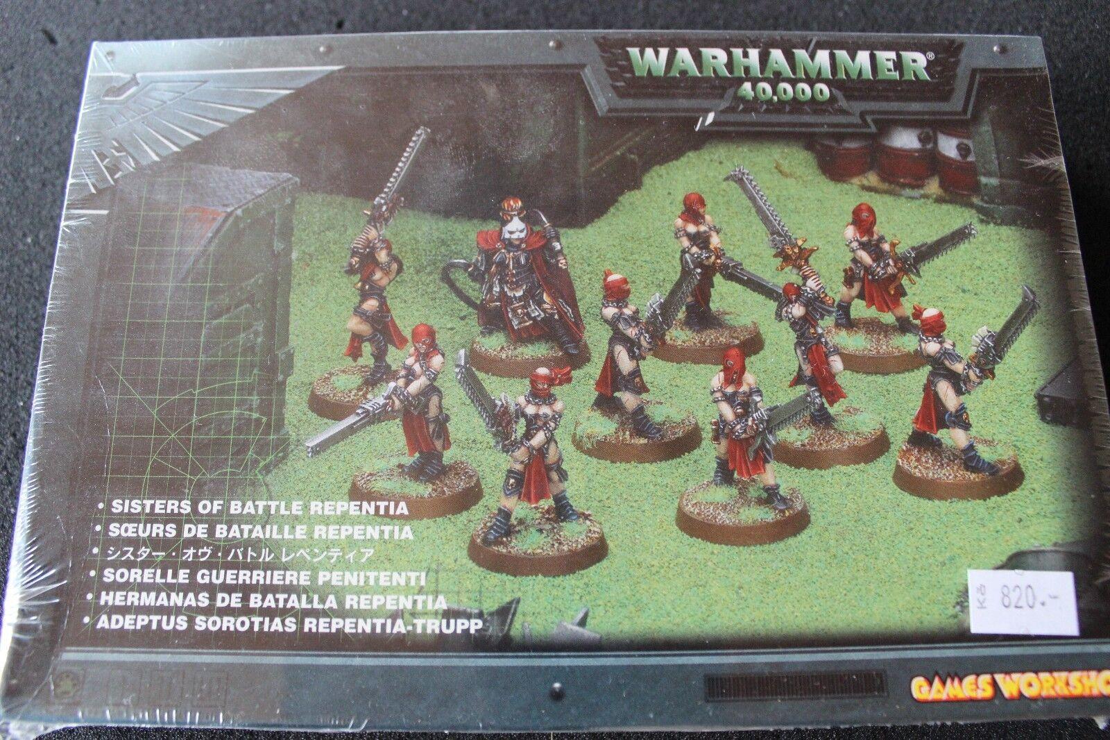 Games workshop warhammer 40k sisters of battle sisters repentia 10  metal figures  autorisation officielle