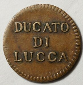 ITALIE-ASSEZ-RARE-QUATTRINO-1826-DU-DUCHE-DE-LUCQUES