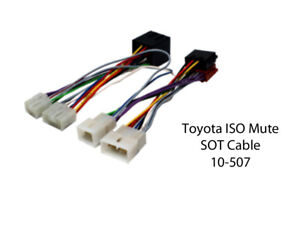 10-507 Toyota Urban Cruiser 2009 en Adelante ISO Mute borrachín Cable Cable Adaptador