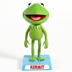 Lindo-Kawaii-Muppets-Kermit-The-Frog-PVC-bobble-Head-Nodder-Figura-Coleccionable