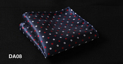 DA Polka Dot Men Silk Satin Pocket Square Hanky Wedding Party Handkerchief