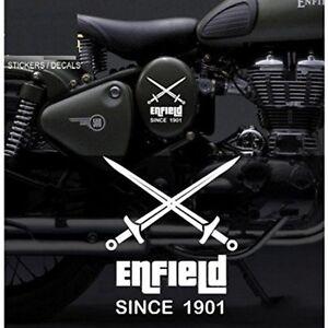 Custom Crossed Swords Vinyl Sticker Decal For Royal Enfield - Bicycle stickers custom