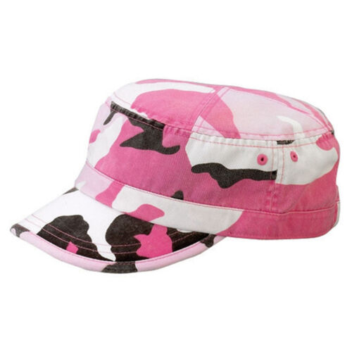 Enzyme Regular Army Cap Adjustable Strap Pink Camouflage