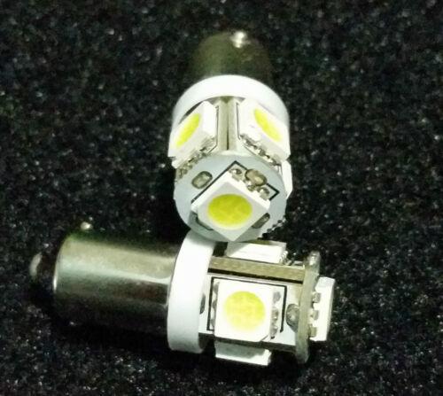 4X BA9 GREEN 5 SMD LED MAP LIGHT BULBS BAX9 64111 64132 1895 1816 1891 1445