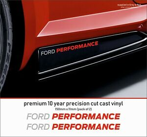 FORD-PERFORMANCE-RACING-M-Premium-10-Year-Cast-Vinyl-Decals-Stickers-x-2