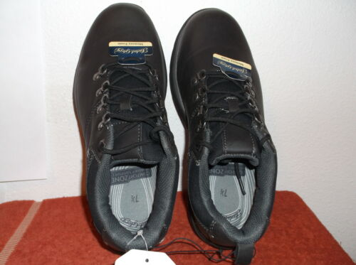 BRAND NEW MEN/'S FADED GLORY BLACK CASUAL SHOES with LACES /& METAL LOOPS