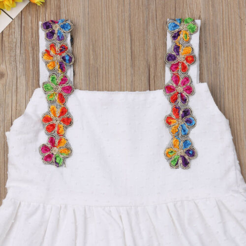 Summer Toddler Kid Baby Girls Lace Floral Summer Party Princess Dress Sundress