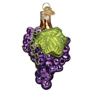 Old World Christmas GRAPES (28136)N Glass Ornament w/ OWC Box