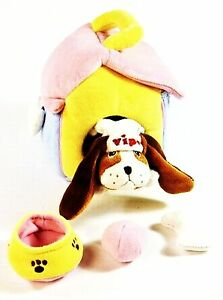 Vipo-Baby-der-fliegende-Hund-Pluesch-Hundehuette-mit-Hund-Hundehaus-Neu-OVP