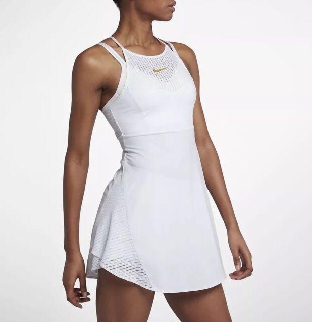 NIKE COURT Maria Tennis Robe Jupe Femme Taille M L XL Blanc
