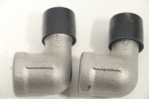 Lot-of-2-CAMCO-1-2-034-SS-Stainless-90-Elbow-WOG-NPT-Fitting