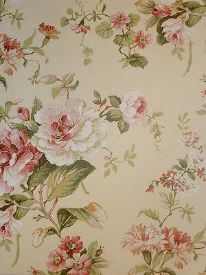 """""""Aromas"""" Vlies-Tapete 621-3 Floral Blumen grün Landhaus-Stil (6.25 Euro pro m²)"""